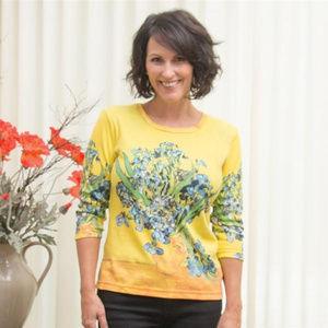 Tops - Van Gogh Vase With Irises Shirt